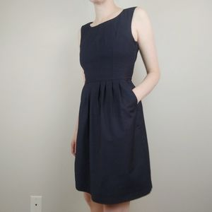 H&M Navy dress with pockets and buttons on back
